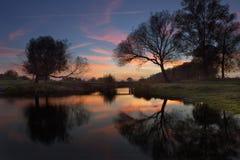 Sonnenuntergangfarben Stockfotos