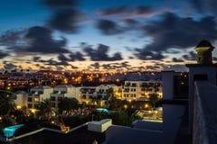 Sonnenuntergangfeiertagsszene Lizenzfreie Stockfotos