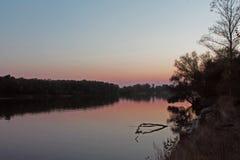 Sonnenuntergangfluß Stockfotografie