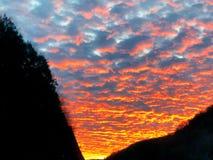 Sonnenuntergangglühen lizenzfreie stockfotos