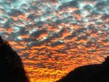 Sonnenuntergangglühen lizenzfreie stockbilder