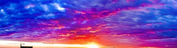 Sonnenuntergangglühen stockfoto