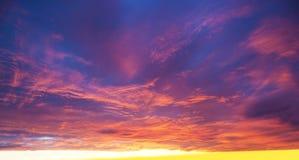 Sonnenunterganghimmel Stockbild