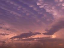 Sonnenunterganghimmel Lizenzfreies Stockbild