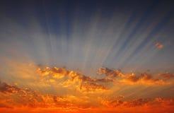 Sonnenunterganghimmel stockfoto