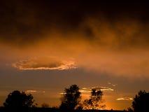 Sonnenunterganghimmel-Herbstfarben Lizenzfreies Stockfoto