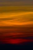 Sonnenunterganghimmel an Nationalpark Phukradueng Stockfoto