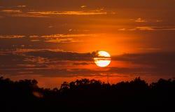 Sonnenunterganghimmel, Thailand Lizenzfreie Stockfotografie