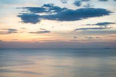 Sonnenunterganghimmelhintergrund Stockfotografie