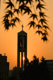 Sonnenuntergangkirche Lizenzfreie Stockfotos