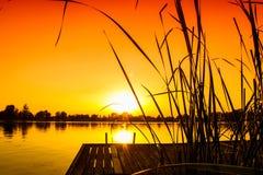Sonnenunterganglandschaft Stockfoto