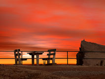 Sonnenunterganglandschaft Stockfotografie