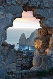 Sonnenunterganglandschaft Schwarzen Meers lizenzfreies stockfoto