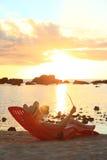 Sonnenunterganglesung Lizenzfreie Stockfotos
