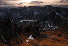 Sonnenuntergangleuchte Lizenzfreies Stockfoto