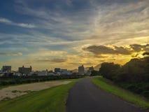 Sonnenuntergangmalerei lizenzfreie stockbilder