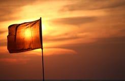 Sonnenuntergangmarkierungsfahne Stockbilder