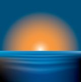 Sonnenuntergangmeer Lizenzfreies Stockfoto