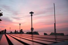 Sonnenuntergangmeer Stockbilder