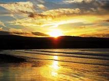 Sonnenuntergangmeer Lizenzfreie Stockfotos