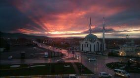 Sonnenuntergangmoschee Lizenzfreies Stockbild