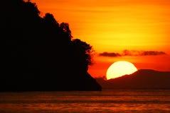 Sonnenuntergangnahaufnahme Stockfoto