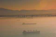 Sonnenuntergangnebel Lizenzfreie Stockfotografie