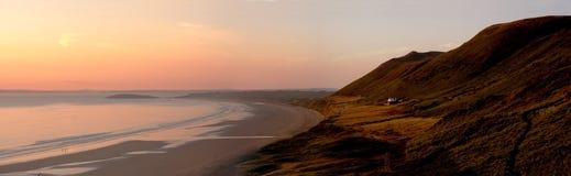 Sonnenuntergangpanorama Lizenzfreie Stockfotografie