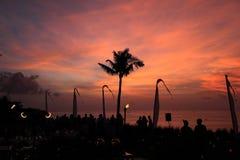 Sonnenuntergangparty Lizenzfreies Stockbild