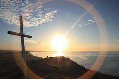 Sonnenuntergangquerküstenszene Stockfotografie