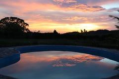 Sonnenuntergangreflexion Stockbild