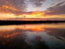 Sonnenuntergangreflexion Lizenzfreies Stockfoto