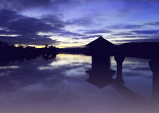 Sonnenuntergangreflexion Lizenzfreies Stockbild