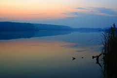Sonnenuntergangreflexionen Stockfotografie