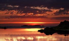 Sonnenuntergangreflexionen lizenzfreie stockfotografie