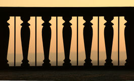 Sonnenuntergangsbalkon Stockfotografie