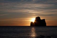 Sonnenuntergangschattenbild Stockbild