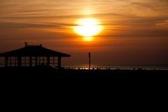 Sonnenuntergangschattenbild Lizenzfreie Stockfotos