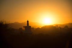 Sonnenuntergangschattenbild Lizenzfreie Stockbilder