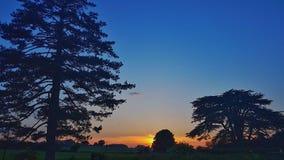 Sonnenuntergangschattenbilder Stockfotos
