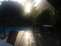 Sonnenuntergangschauer Stockfoto
