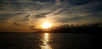 Sonnenuntergangschauer stockfotografie