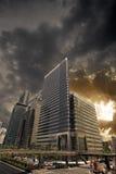 Sonnenuntergangstadt Lizenzfreie Stockfotografie