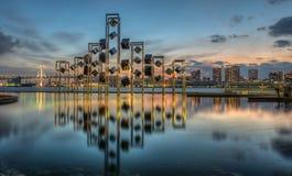 Sonnenuntergangstadtbild Lizenzfreies Stockbild