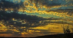 Sonnenuntergangstrahlen Lizenzfreies Stockfoto