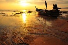 Sonnenuntergangstrand Stockfotos