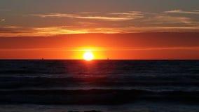 Sonnenuntergangstrand die Niederlande Stockfoto