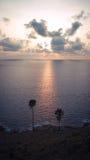 Sonnenuntergangstrand Phuket Stockfoto