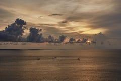 Sonnenuntergangstrand in Phuket Thailand Lizenzfreie Stockbilder