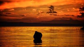 Sonnenuntergangszene Lizenzfreies Stockbild